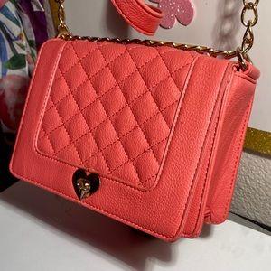 Bright pink medium crossbody bag